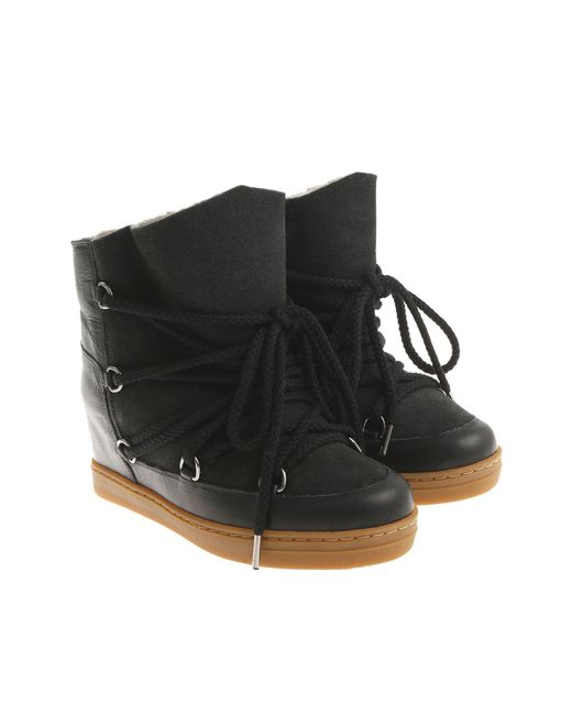Isabel Marant Brown Black Nowles Ankle Boots