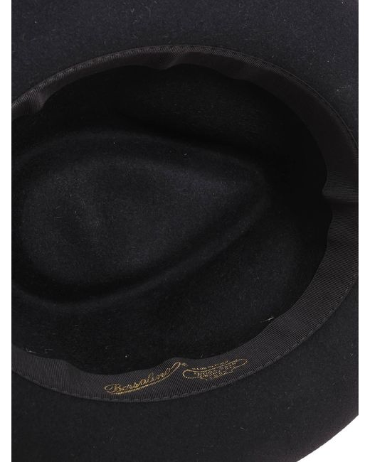 878a030cc9b7b6 Borsalino Black Other Materials Hat in Black for Men - Save 51% - Lyst