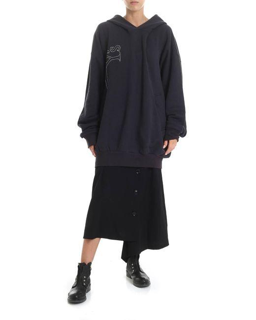 Y's Yohji Yamamoto Black Y's Printed Over Hoodie