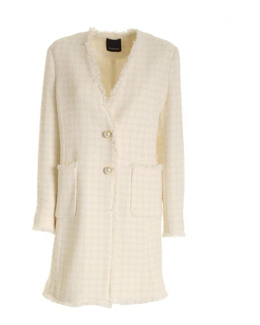 Pinko White Bieco 1 Coat