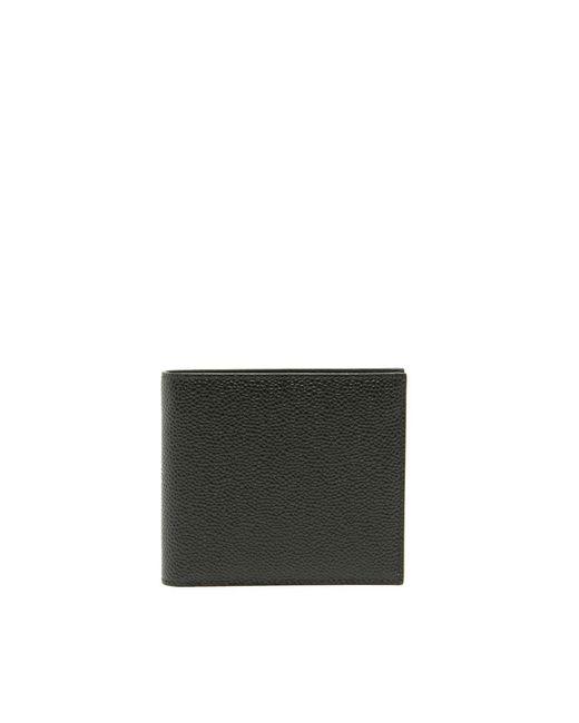 Thom Browne Black Billfold Wallet for men