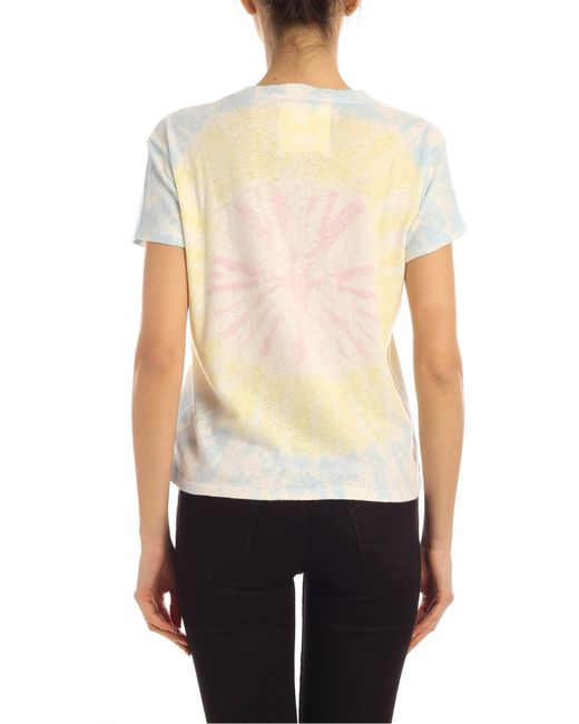 T-Shirt The Sinful Blu Giallo E Rosa Effetto Tie Dye di Mother in Yellow