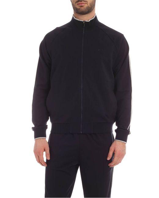 Z Zegna Blue Raglan Sleeve Sweatshirt for men
