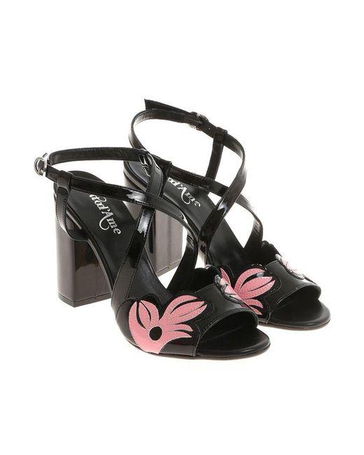 Ottod'Ame - Black Patent Sandals - Lyst