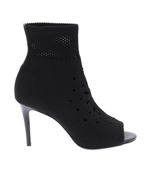 Ash Black Heaven Open Toe Ankle Boots