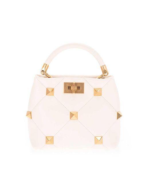 Valentino Garavani White Roman Stud Handbag