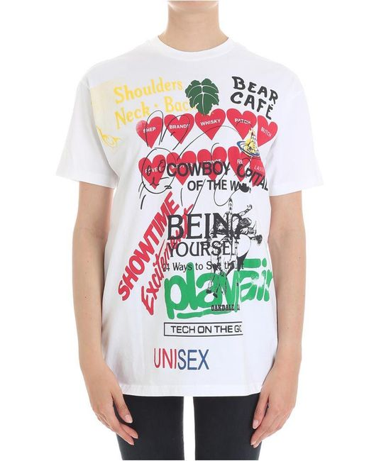 Vivienne Westwood Anglomania - White Boxy Meaningless T-shirt - Lyst