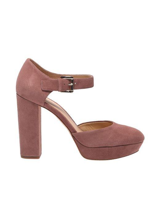 80255ebd9751a Michael Kors - Pink Sierra Platform Ankle Straps In Dusty Rose - Lyst ...