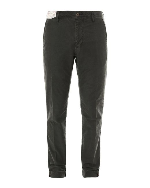 Incotex Green Stretch Cotton Trousers for men
