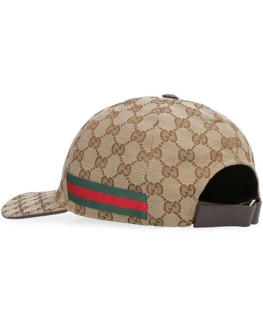 Cappellino da baseball con Web di Gucci in Natural da Uomo