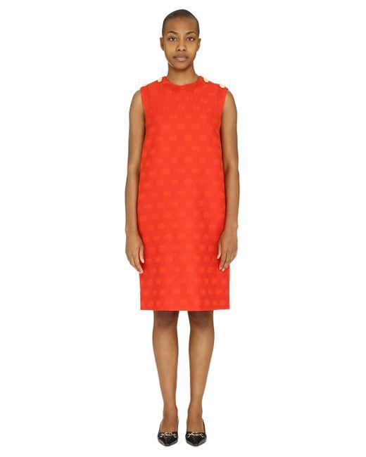 Gucci Red Jaquard Mini Dress