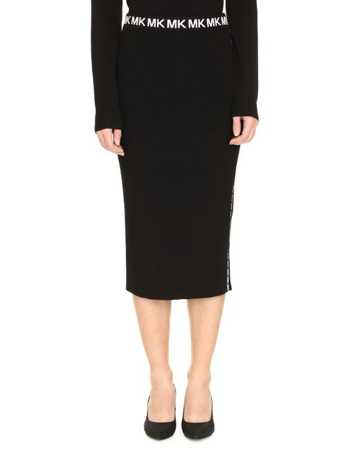 MICHAEL Michael Kors Black Knit Pencil Skirt
