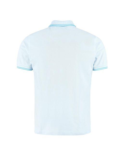 Polo in cotone piquet di Stone Island in Blue da Uomo