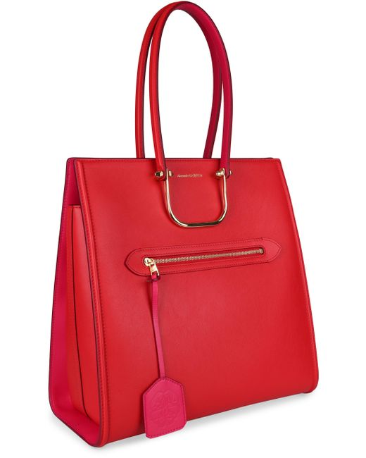 Borsa The Tall Story in pelle di Alexander McQueen in Red