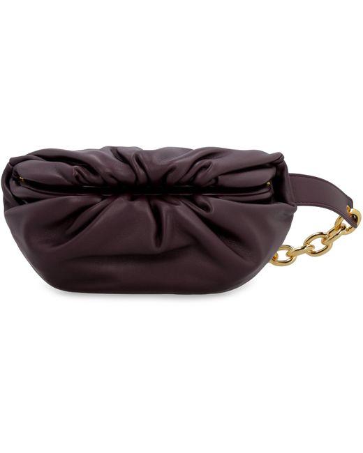 Bottega Veneta Purple The Pouch Mini Leather Belt Bag