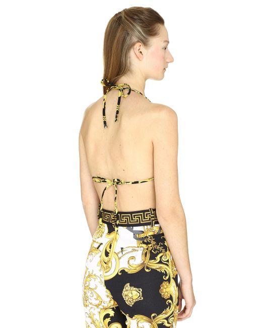 Versace Women's Triangle Bikini Top