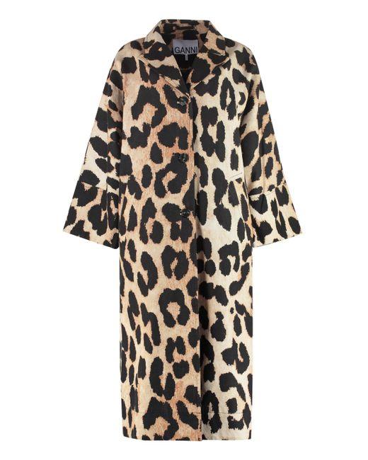 Giacca con maniche a kimono di Ganni in Black