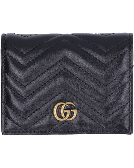 Gucci Black Marmont Small Leather Wallet