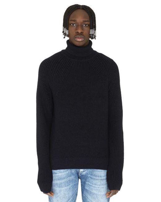 BOSS by Hugo Boss Blue Gilo Turtleneck Virgin-wool Pullover for men