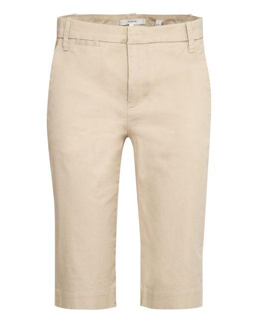 Vince Natural Stretch Cotton Bermuda Shorts