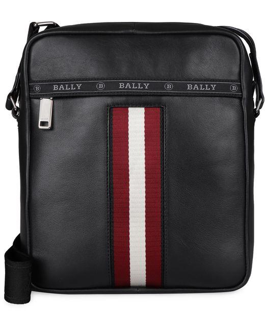 Bally Black Holm Leather Messenger Bag for men