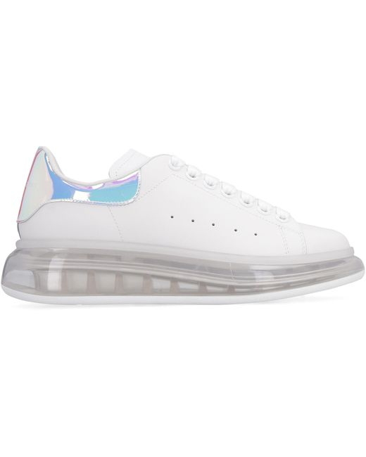 Alexander McQueen White Larry Leather Low-top Sneakers