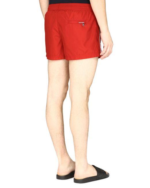 Dolce & Gabbana Men's Red Swim Shorts
