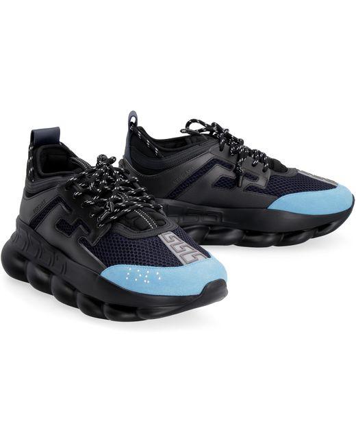 Sneakers Chain Reaction di Versace in Black da Uomo