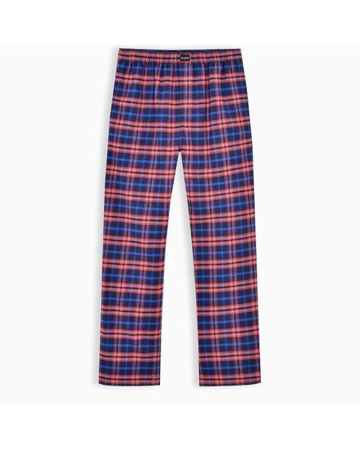 Balenciaga Blue Checkered Pajama Style Trousers for men