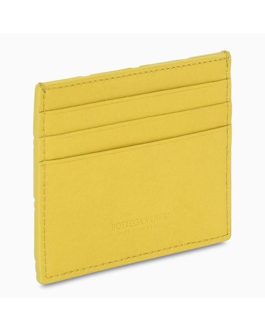 Bottega Veneta Yellow Intrecciato Card Holder for men