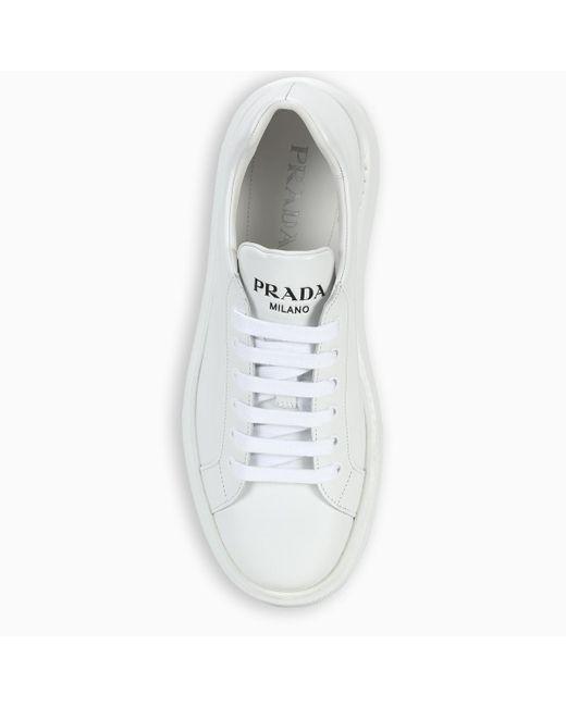 Prada White Leather Sneakers for men
