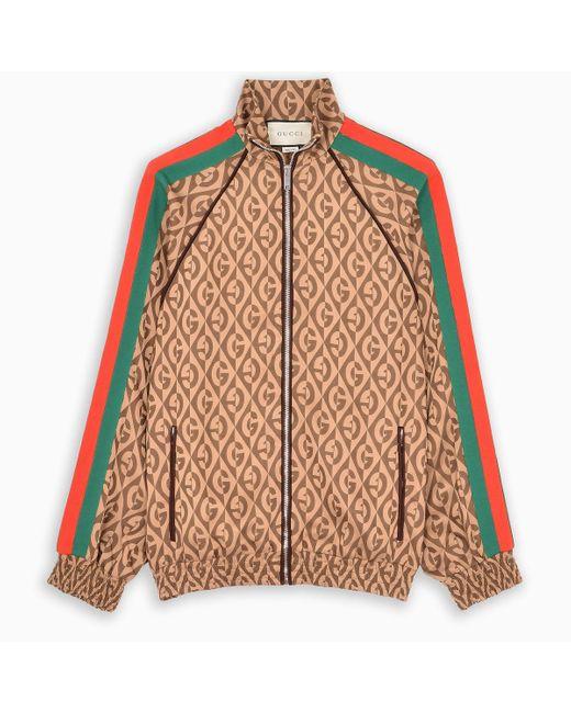 Giacca motivo G rombi di Gucci in Brown