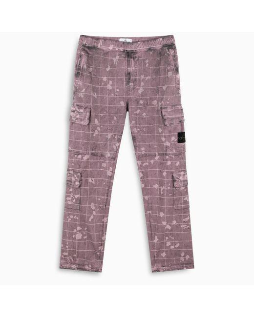 Stone Island Multicolor Pantalon Cargo Magenta Fw20 for men
