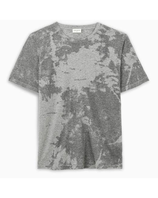 T-shirt grigia con logo di Saint Laurent in Gray da Uomo