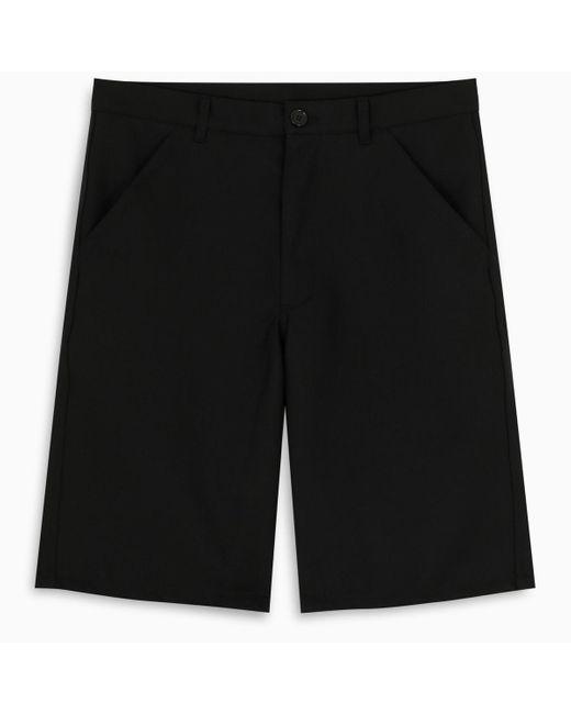 Bermuda sartoriale nero di Comme des Garçons in Black da Uomo