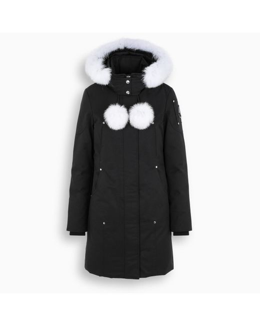 Parka Stirling nero/bianco di Moose Knuckles in Black