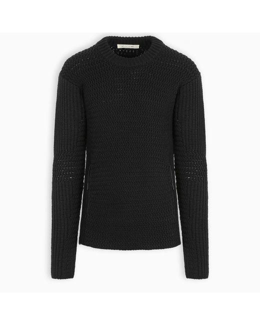 1017 A L Y X 9SM Black Tricot Sweater for men