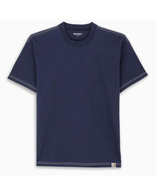 T-shirt blu con cuciture a contrasto di Carhartt WIP in Blue da Uomo