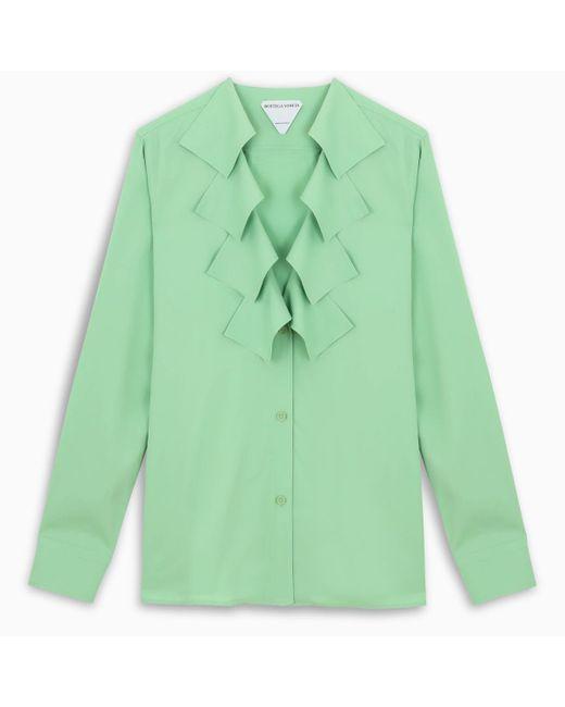 Bottega Veneta Pistachio Green Fringed Shirt