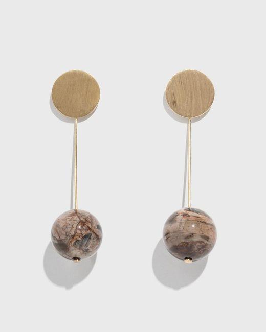 Modern Weaving - Multicolor Stone Drop Earrings - Lyst