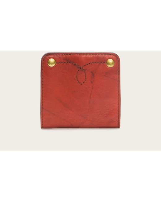 Frye   Red Campus Rivet Small Wallet   Lyst