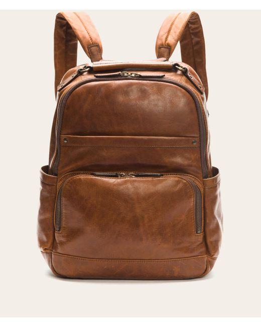 Frye   Brown Logan Backpack for Men   Lyst