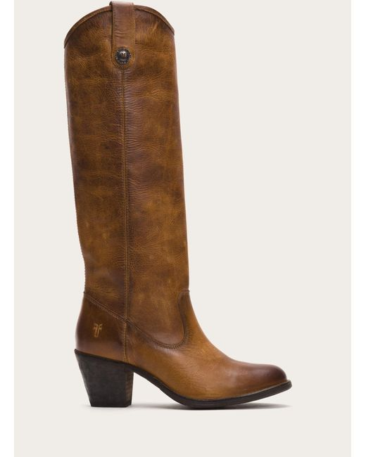 Frye | Brown Jackie Button | Lyst