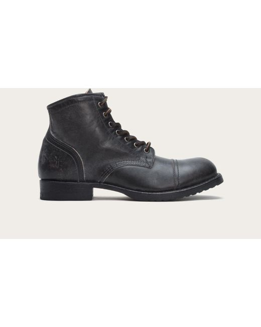 Frye | Black Logan Cap Toe for Men | Lyst