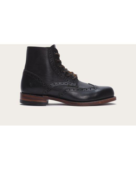Frye | Black Arkansas Wingtip Boot for Men | Lyst