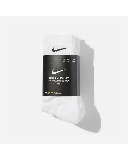 Nike Blue 3-pack Cushioned Crew Socks for men