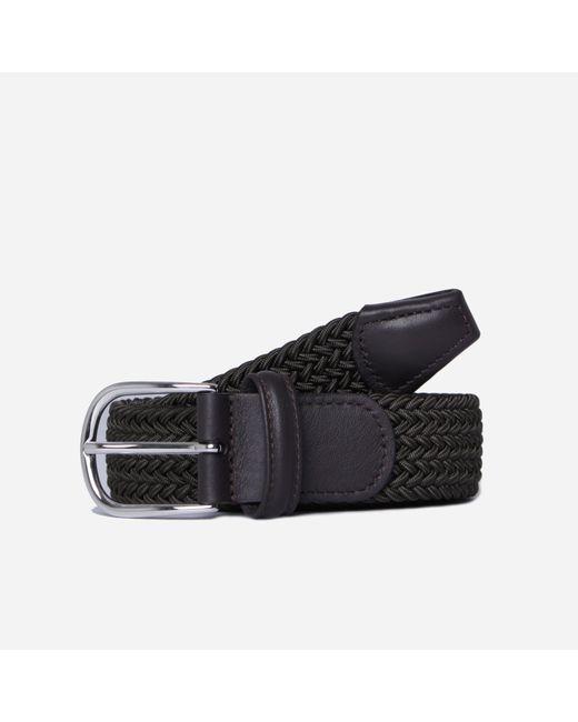 Andersons Green Woven Belt for men