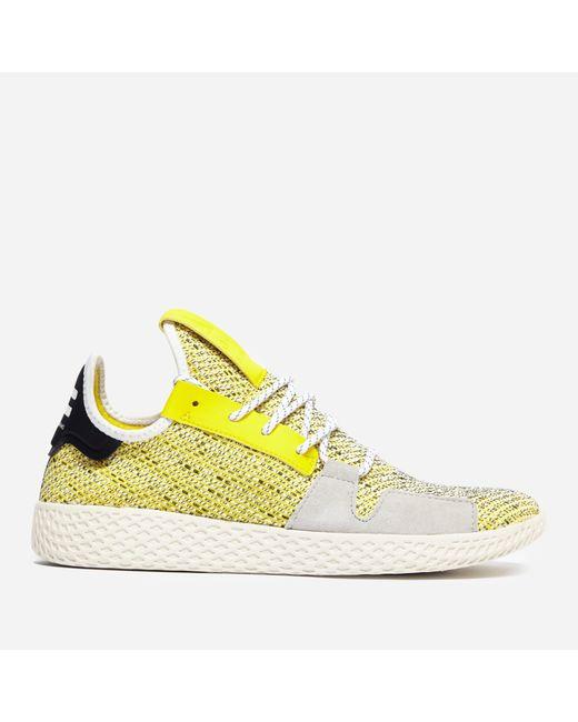 9ac553b98 ... Adidas Originals - Yellow X Pharrell Williams Solar Hu Tennis V2  afro  Pack  for ...
