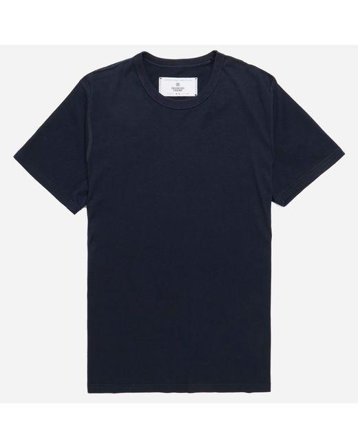 Reigning Champ   Blue Crewneck T-shirt for Men   Lyst