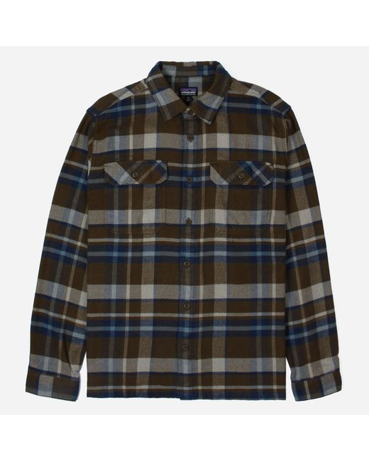 Patagonia - Brown Fjord Flannel Shirt for Men - Lyst